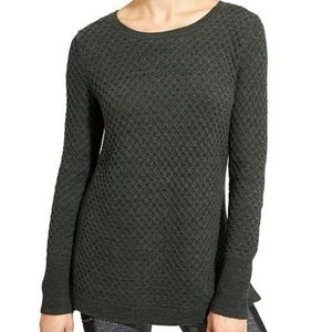 Athleta honeycomb sweater tunic hunter green M